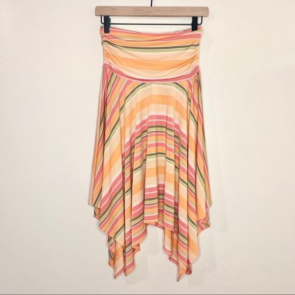 Cynthia Steffe Dresses & Skirts - CYNTHIA STEFFE Strapless Stripe Handkerchief Dress